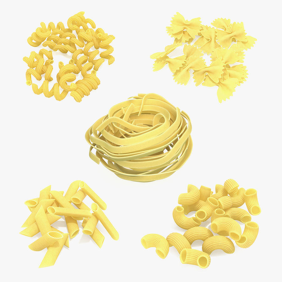 Italian Pasta Collection 3 royalty-free 3d model - Preview no. 1