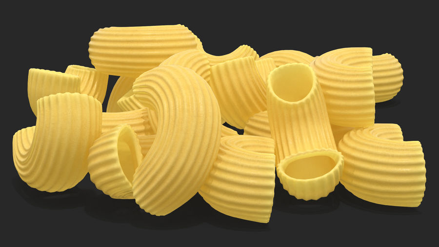 Italian Pasta Collection 3 royalty-free 3d model - Preview no. 19