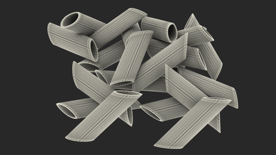 Italian Pasta Collection 3 royalty-free 3d model - Preview no. 41