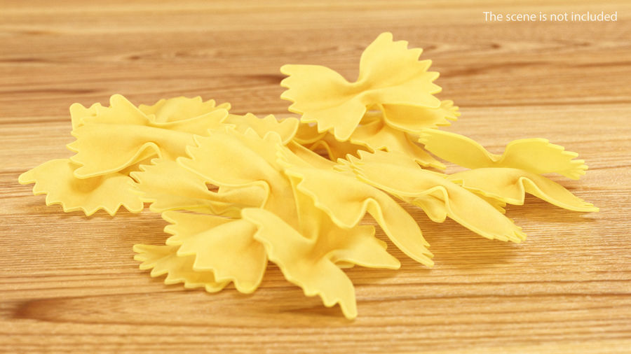 Italian Pasta Collection 3 royalty-free 3d model - Preview no. 23