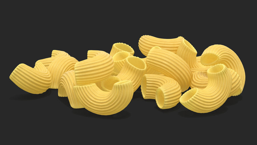 Italian Pasta Collection 3 royalty-free 3d model - Preview no. 16
