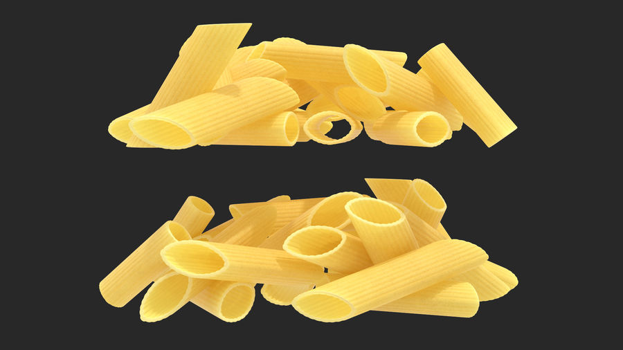 Italian Pasta Collection 3 royalty-free 3d model - Preview no. 11