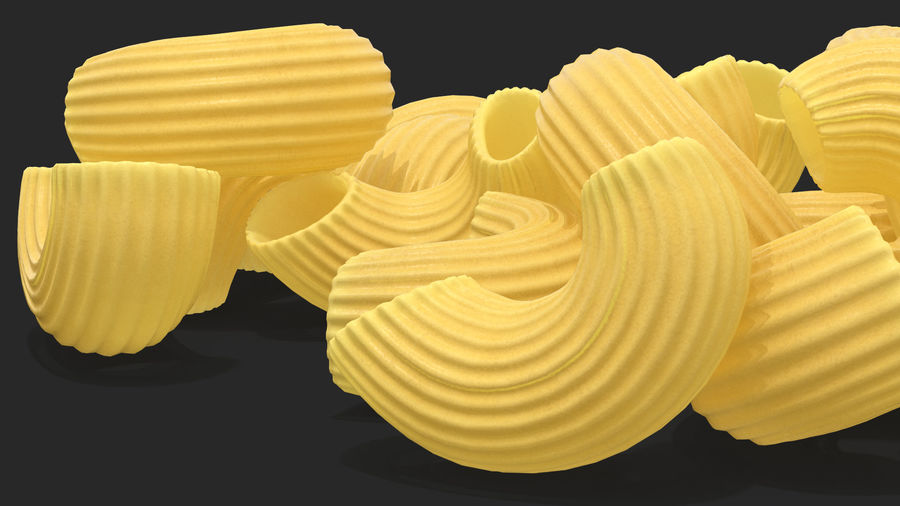 Italian Pasta Collection 3 royalty-free 3d model - Preview no. 21
