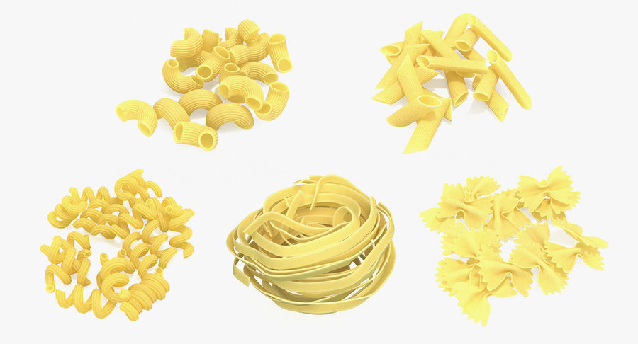 Italian Pasta Collection 3 royalty-free 3d model - Preview no. 2