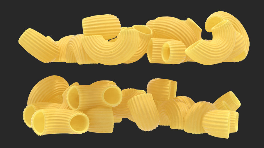 Italian Pasta Collection 3 royalty-free 3d model - Preview no. 17
