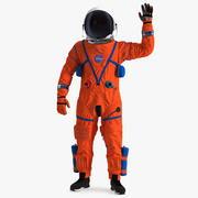Posa di saluti dell'astronauta della tuta spaziale OCSS 3d model