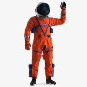 Astronauta in posa di saluti della tuta spaziale ACES 3d model