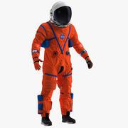 Astronaute en combinaison d'évacuation avancée pour équipage montée pour Cinema 4D 3d model
