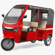 Elektrisk passagerare trehjuling Rickshaw riggad 3d model