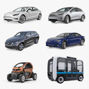 Electric Cars Collection 3d model