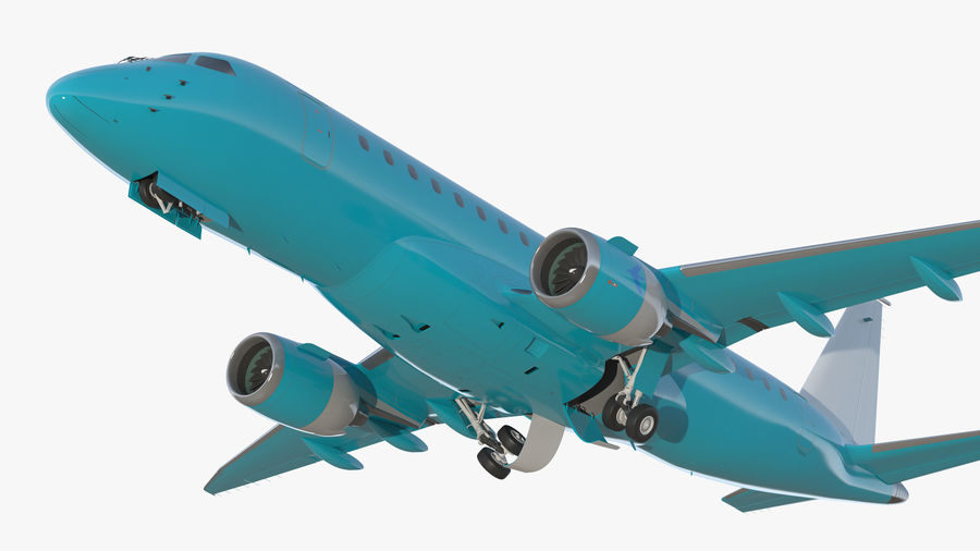 Commercial Airliner with Pilot and Stewardess Collection royalty-free 3d model - Preview no. 8