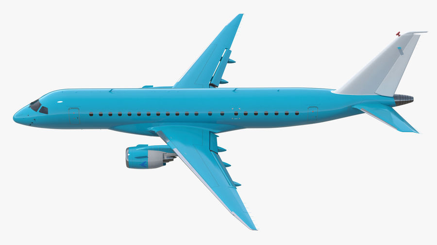 Commercial Airliner with Pilot and Stewardess Collection royalty-free 3d model - Preview no. 3