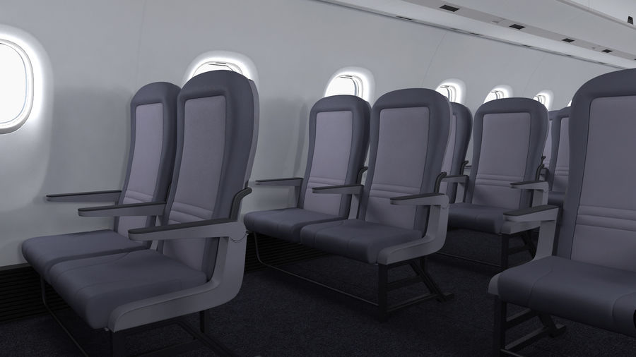 Commercial Airliner with Pilot and Stewardess Collection royalty-free 3d model - Preview no. 17