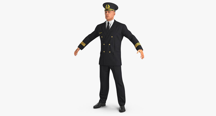 Commercial Airliner with Pilot and Stewardess Collection royalty-free 3d model - Preview no. 27