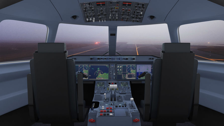 Commercial Airliner with Pilot and Stewardess Collection royalty-free 3d model - Preview no. 14