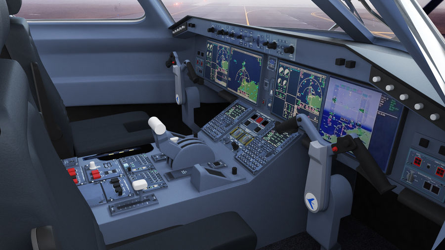 Commercial Airliner with Pilot and Stewardess Collection royalty-free 3d model - Preview no. 15