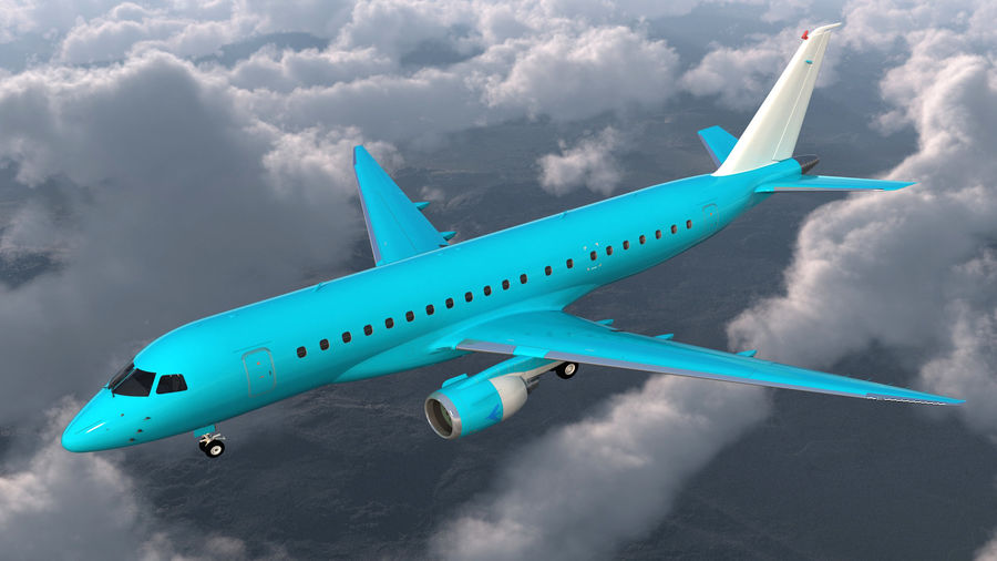 Commercial Airliner with Pilot and Stewardess Collection royalty-free 3d model - Preview no. 5