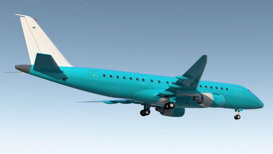 Commercial Airliner with Pilot and Stewardess Collection royalty-free 3d model - Preview no. 6