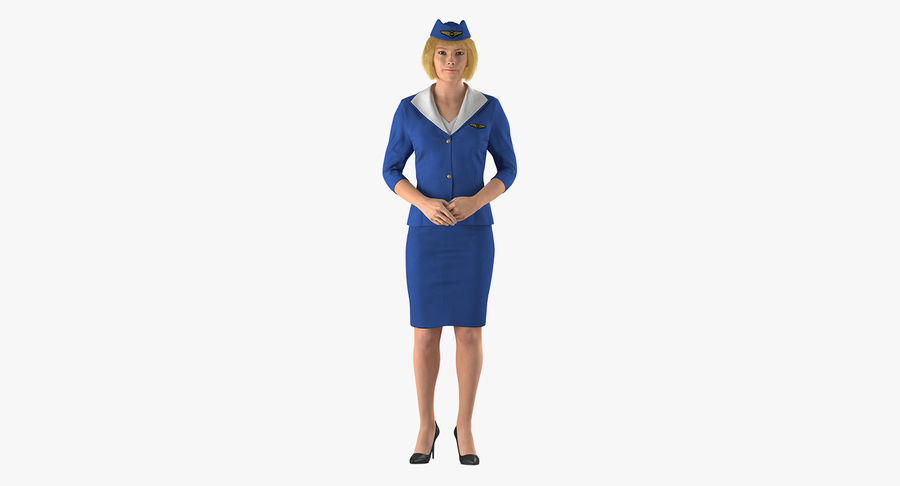Commercial Airliner with Pilot and Stewardess Collection royalty-free 3d model - Preview no. 18