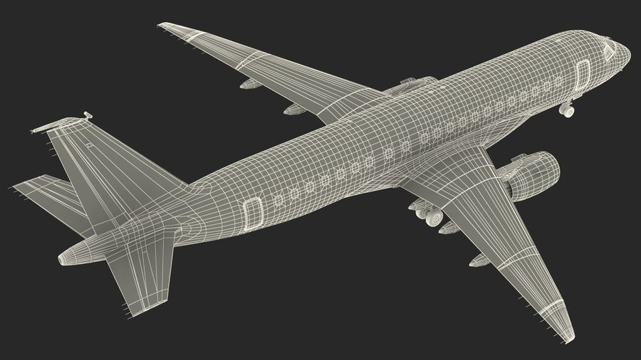 Commercial Airliner with Pilot and Stewardess Collection royalty-free 3d model - Preview no. 39