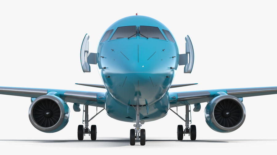 Commercial Airliner with Pilot and Stewardess Collection royalty-free 3d model - Preview no. 10