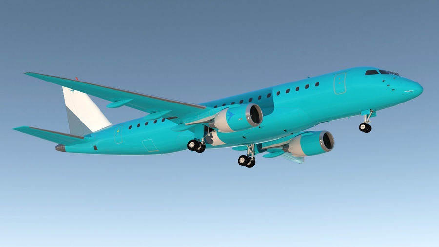 Commercial Airliner with Pilot and Stewardess Collection royalty-free 3d model - Preview no. 4