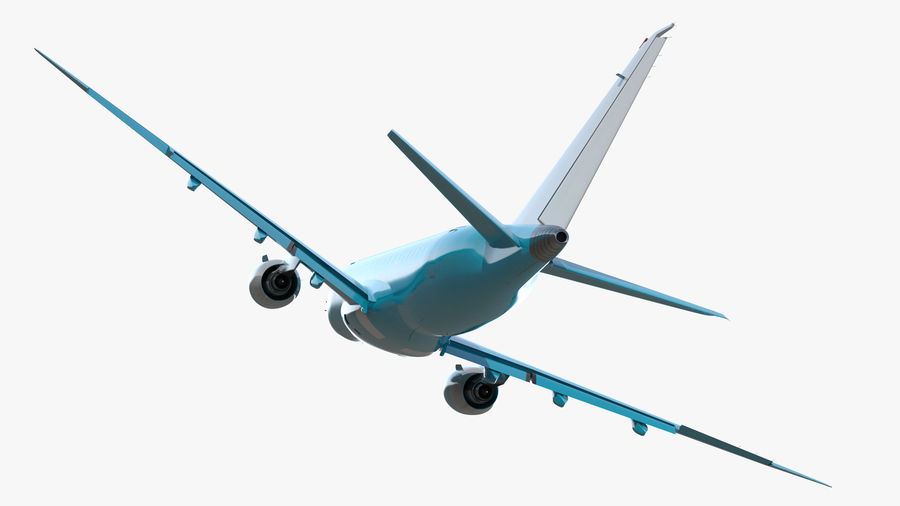 Commercial Airliner with Pilot and Stewardess Collection royalty-free 3d model - Preview no. 7