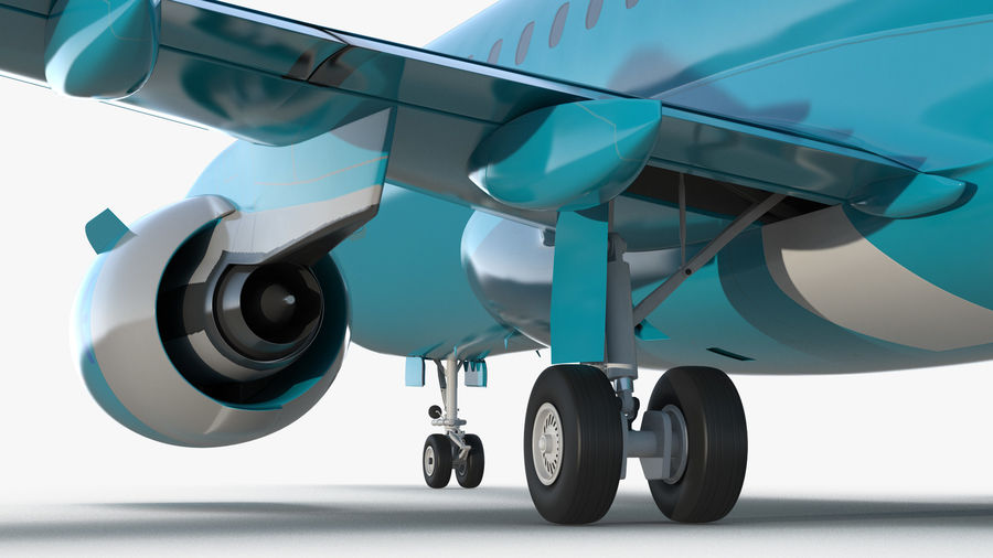Commercial Airliner with Pilot and Stewardess Collection royalty-free 3d model - Preview no. 13