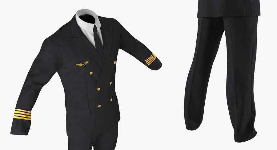 Commercial Airliner with Pilot and Stewardess Collection royalty-free 3d model - Preview no. 32