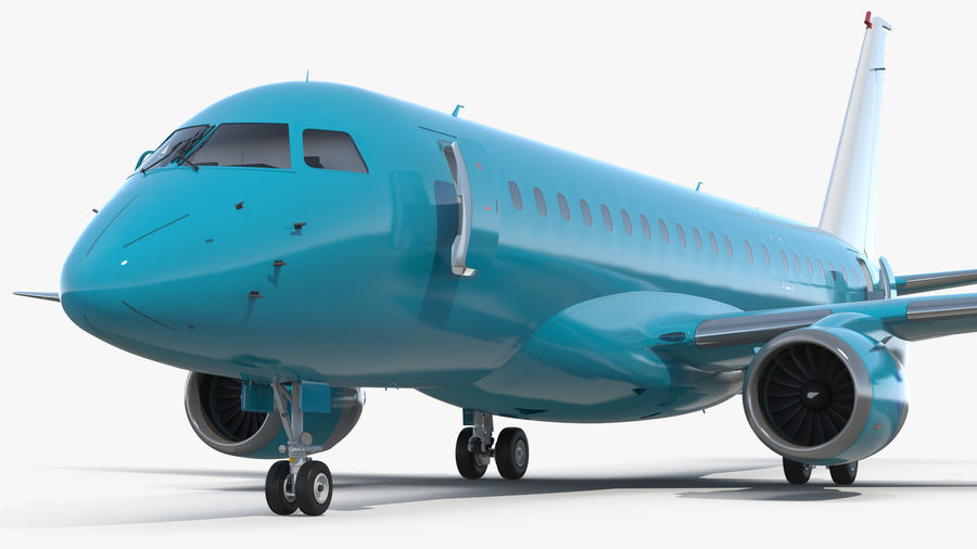 Commercial Airliner with Pilot and Stewardess Collection royalty-free 3d model - Preview no. 1