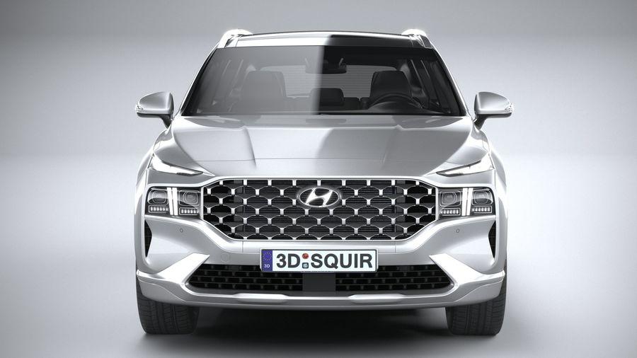 Hyundai SantaFe 2021 royalty-free 3d model - Preview no. 14
