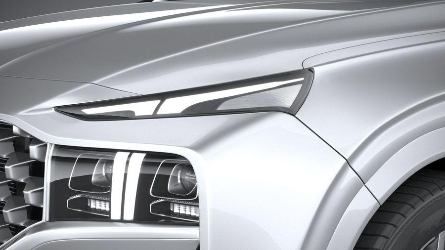 Hyundai SantaFe 2021 royalty-free 3d model - Preview no. 15