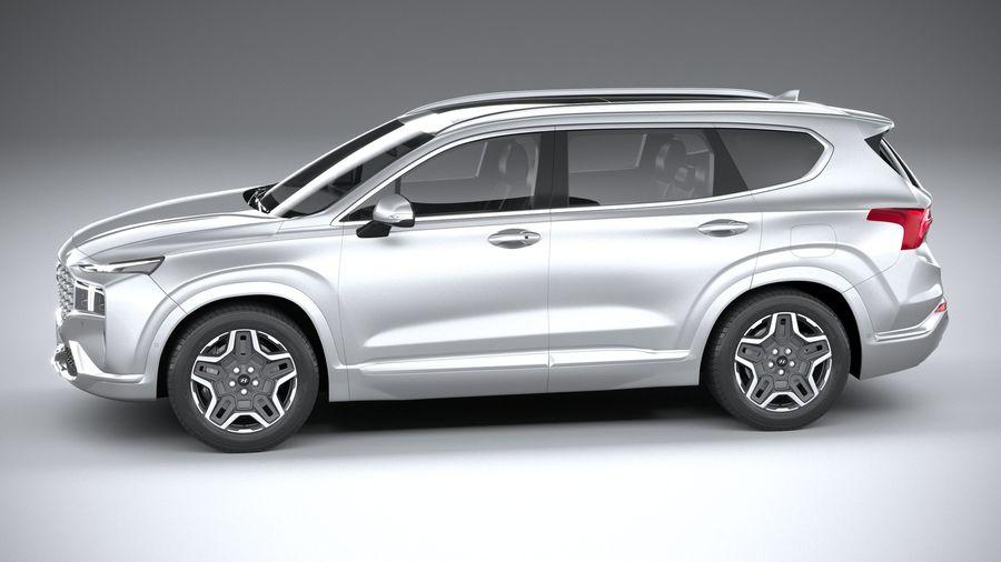 Hyundai SantaFe 2021 royalty-free 3d model - Preview no. 9