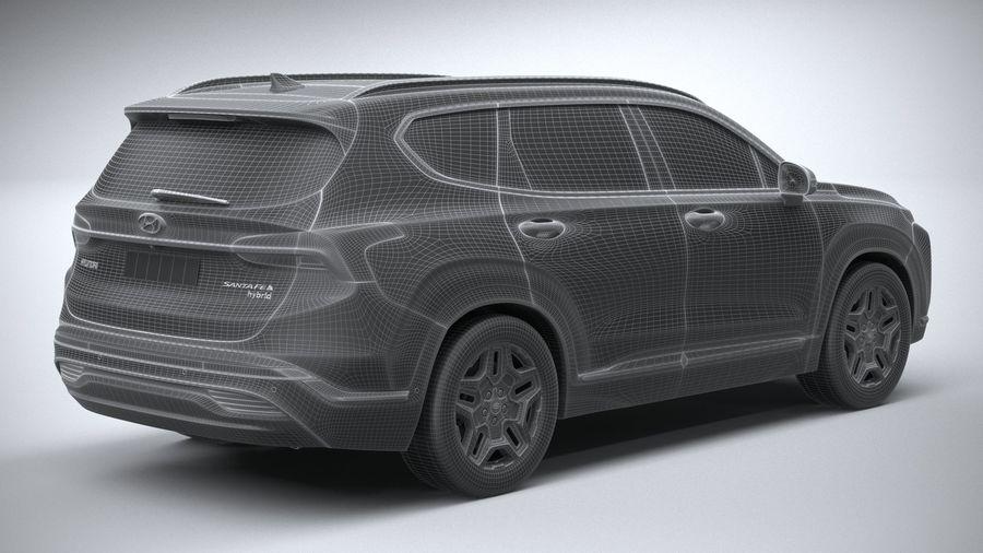 Hyundai SantaFe 2021 royalty-free 3d model - Preview no. 28