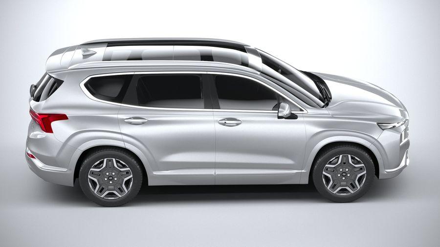 Hyundai SantaFe 2021 royalty-free 3d model - Preview no. 12