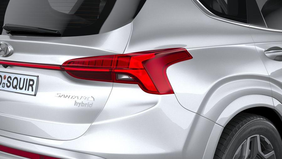 Hyundai SantaFe 2021 royalty-free 3d model - Preview no. 19