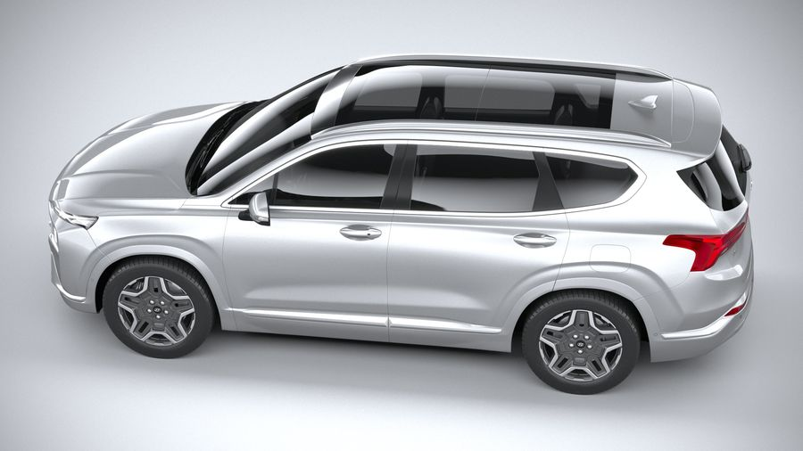 Hyundai SantaFe 2021 royalty-free 3d model - Preview no. 10