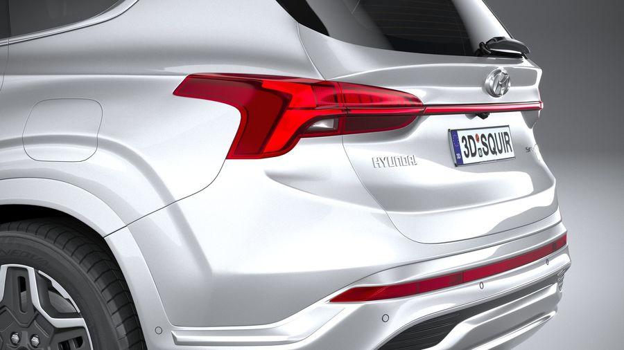 Hyundai SantaFe 2021 royalty-free 3d model - Preview no. 7