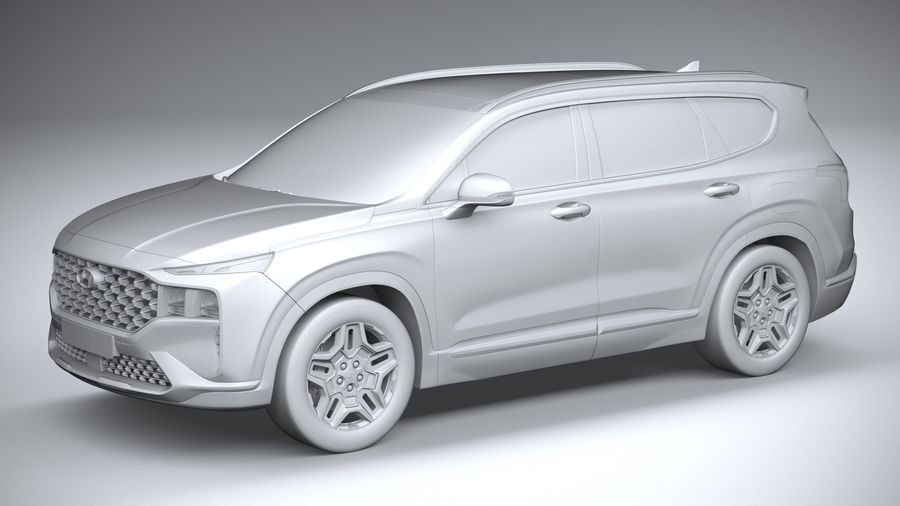Hyundai SantaFe 2021 royalty-free 3d model - Preview no. 20
