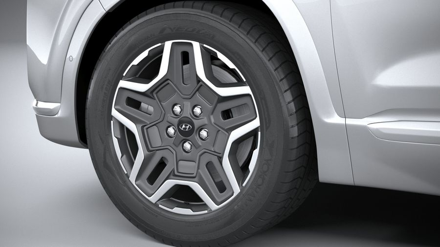 Hyundai SantaFe 2021 royalty-free 3d model - Preview no. 17