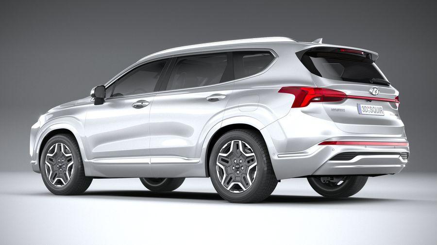 Hyundai SantaFe 2021 royalty-free 3d model - Preview no. 6