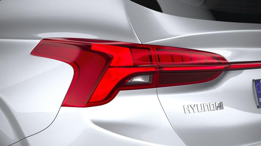 Hyundai SantaFe 2021 royalty-free 3d model - Preview no. 16