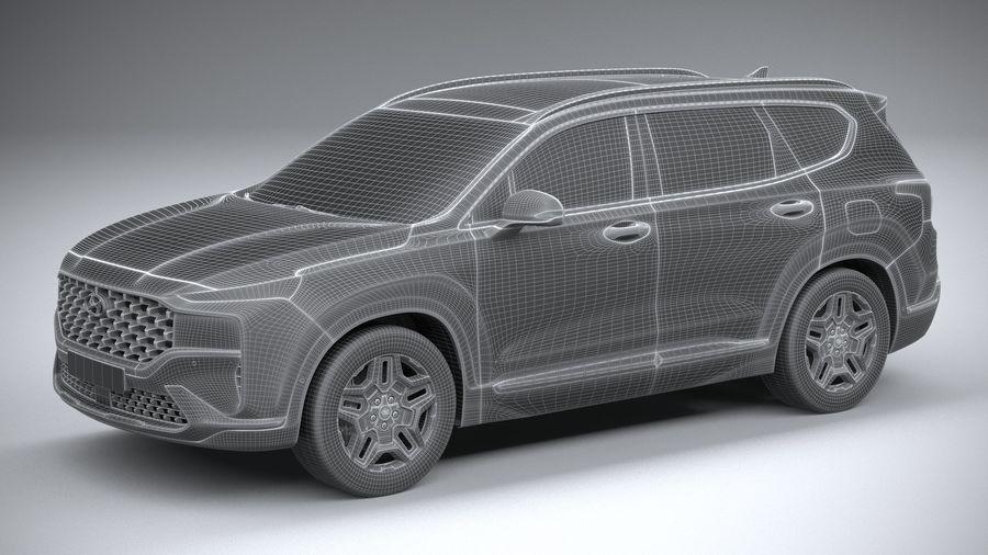 Hyundai SantaFe 2021 royalty-free 3d model - Preview no. 27