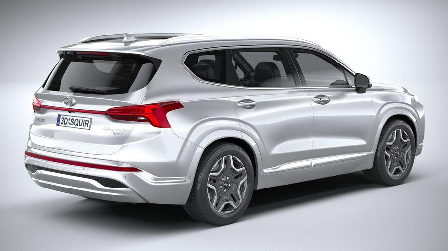 Hyundai SantaFe 2021 royalty-free 3d model - Preview no. 18