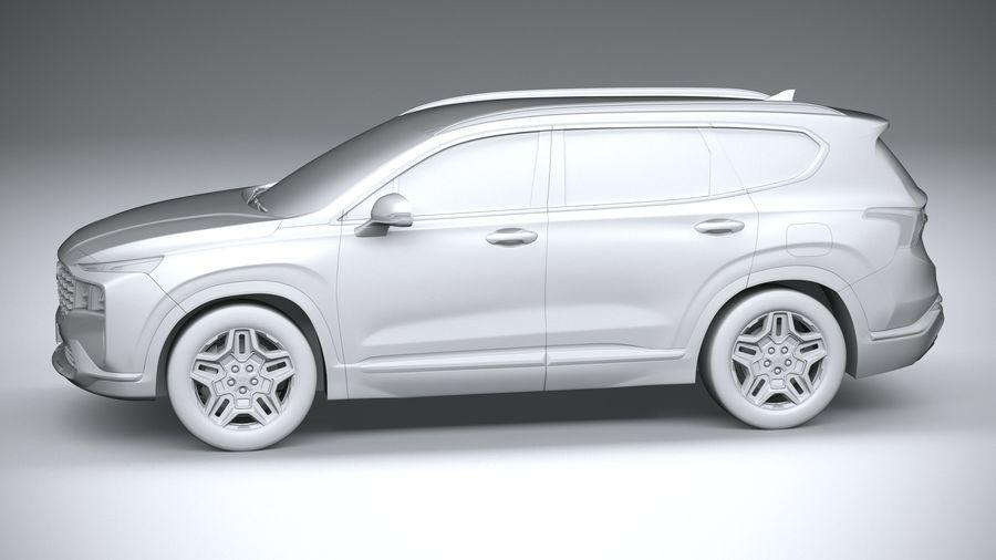 Hyundai SantaFe 2021 royalty-free 3d model - Preview no. 23