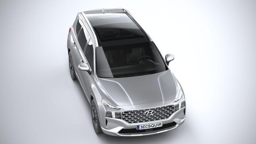 Hyundai SantaFe 2021 royalty-free 3d model - Preview no. 13