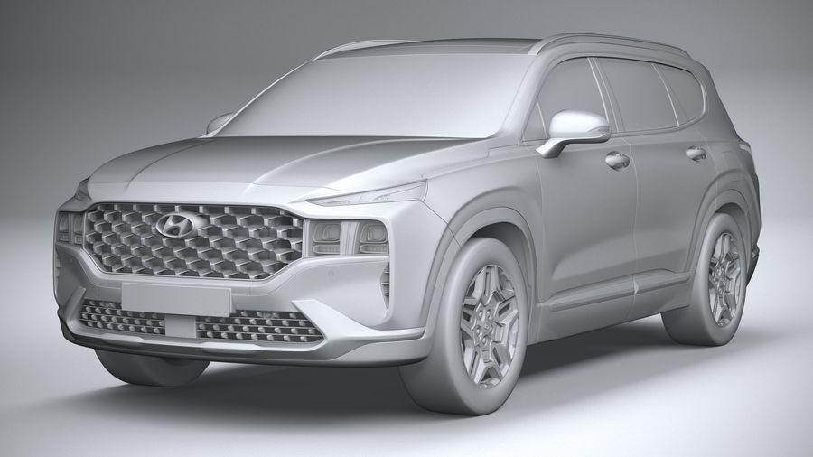 Hyundai SantaFe 2021 royalty-free 3d model - Preview no. 21