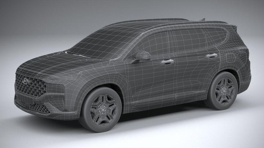 Hyundai SantaFe 2021 royalty-free 3d model - Preview no. 29