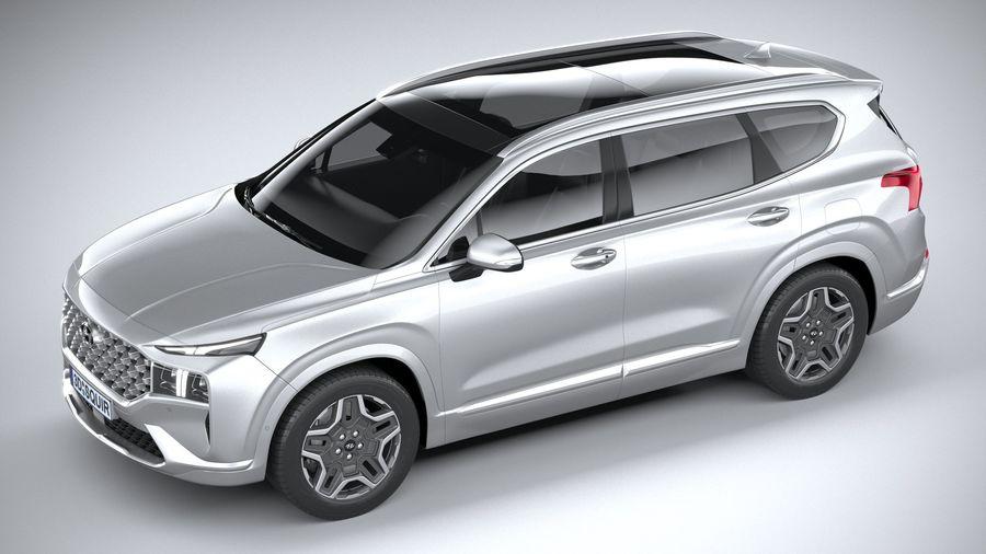 Hyundai SantaFe 2021 royalty-free 3d model - Preview no. 8