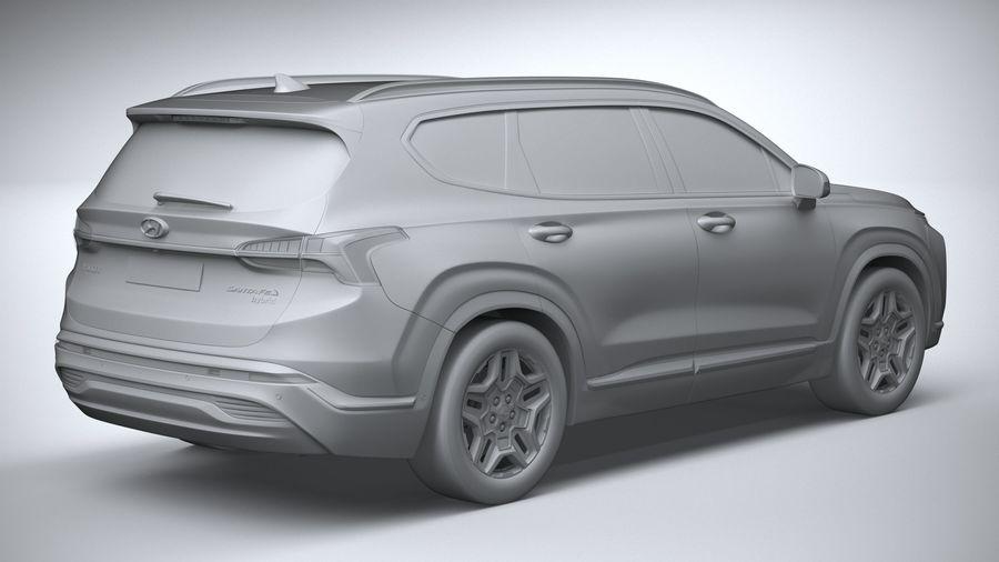 Hyundai SantaFe 2021 royalty-free 3d model - Preview no. 26